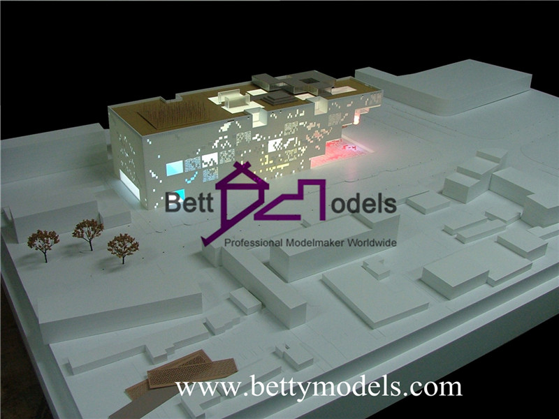 white architectural models