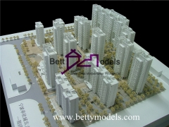 white residential scale models