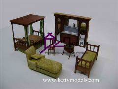 3D interior rosewood furniture models
