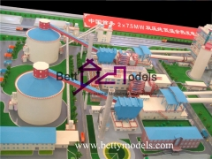 3D Power station scale models