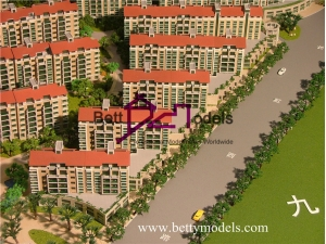 Beijing apartment residential scale models