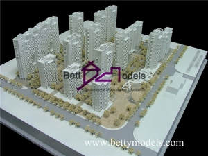 Turkmenistan apartment building scale models